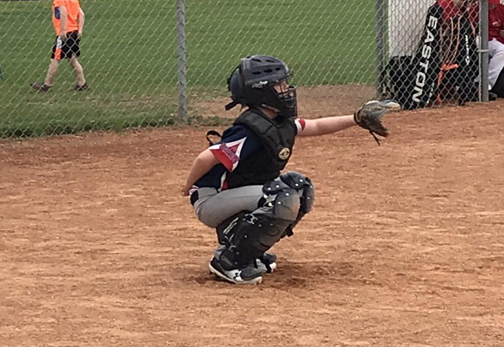 Child Playing Catcher
