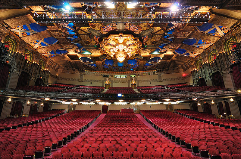 View from the stage of the Pantages Theatre