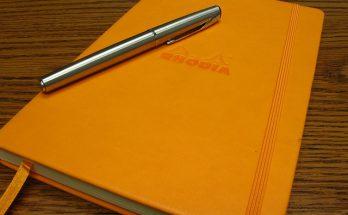 Rhodia Journal - orange, plus a silver pen