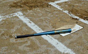 Baseball bat at home field