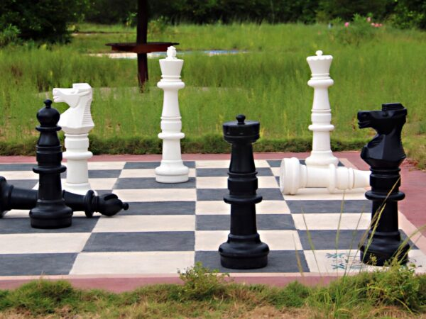 Large Outdoor Chess Board and Pieces