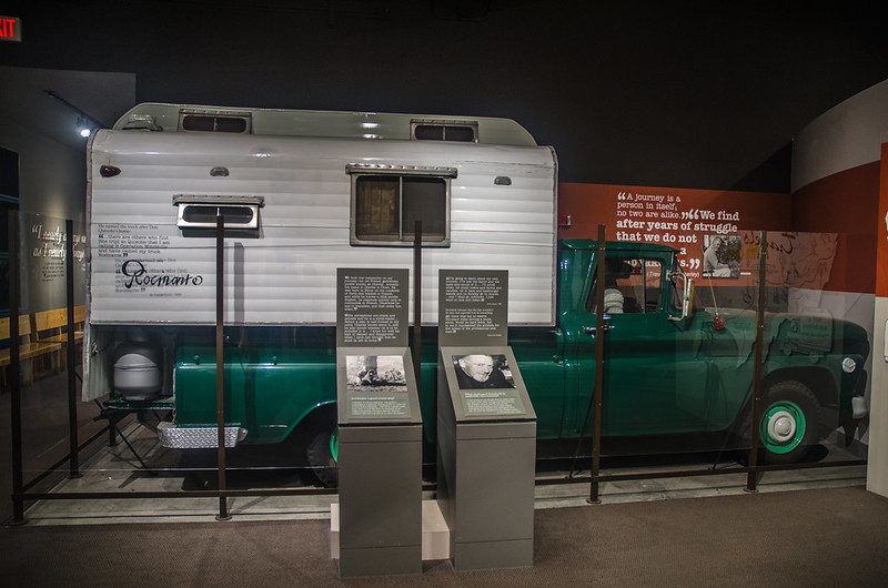 John Steinbeck's Truck With Camper Back in Steinbeck Museum